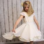 Zart und elegant * Festkleid für Kommunion, Taufe und Hochzeit