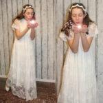 Vintagekleid für die Erste Heilige Kommunion oder Blumenmädchen zur Hochzeit.